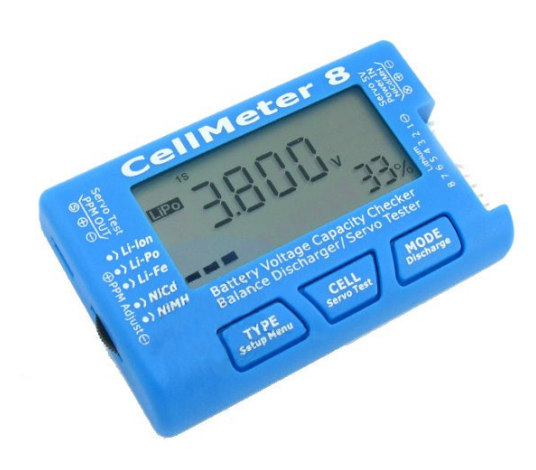 Cellmeter 8 battery voltage capacity checkerbattery dischargerservo tester