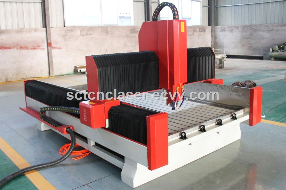 Stone CNC Router Machine Process 3D Relife On Marble & Granite