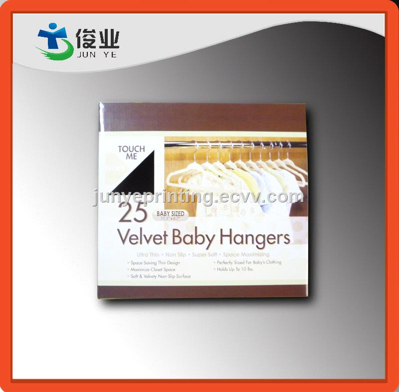 Paper Color Box For Suit Hangers Packaging