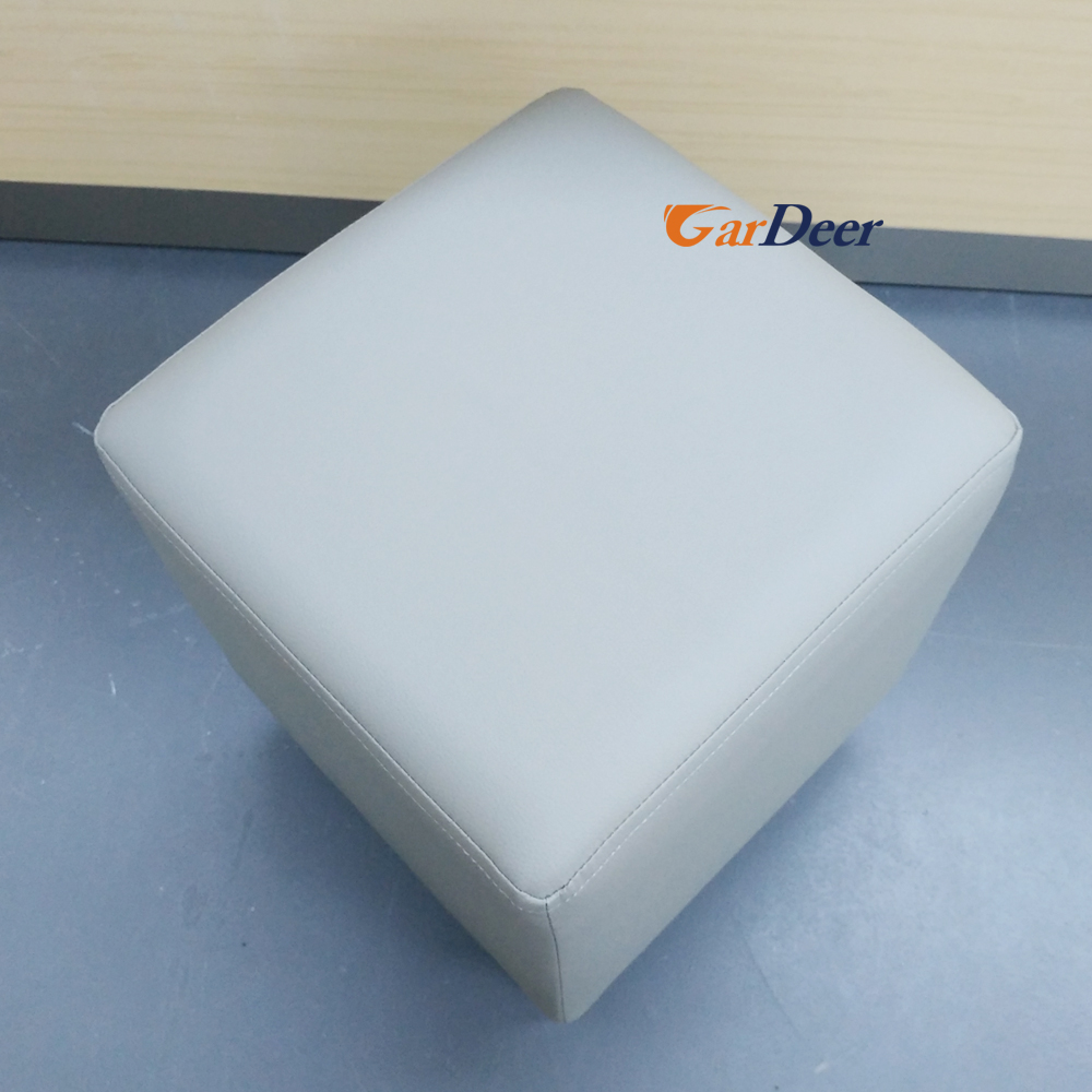 China manufacturer newest gray sofa leather stool for huawei store experience