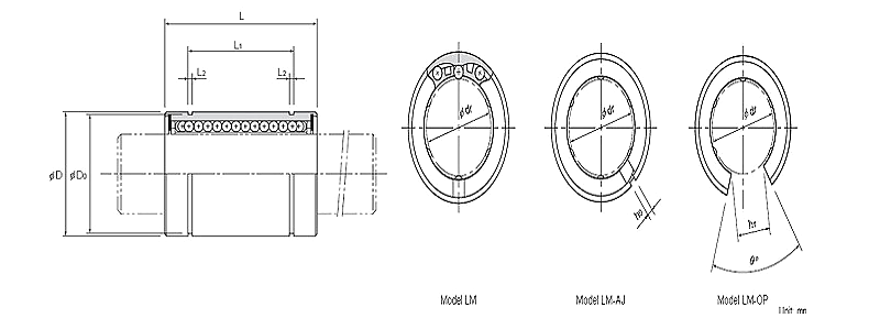 THK FBF linear motion bearing linear bearing LM4UULM5UULM6UULM8UULM8SUULM10UULM12UULM13UULM16UU