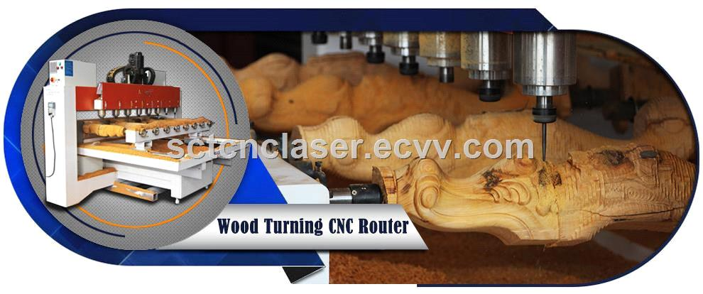 CNC Turning Machine 4 Axis Wood Stone CNC Router