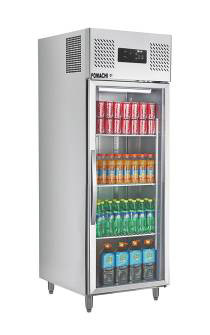 Commercial Upright Refrigerator Glass Door Stainless Steel Body Upright Refrigerator FMXBC362A