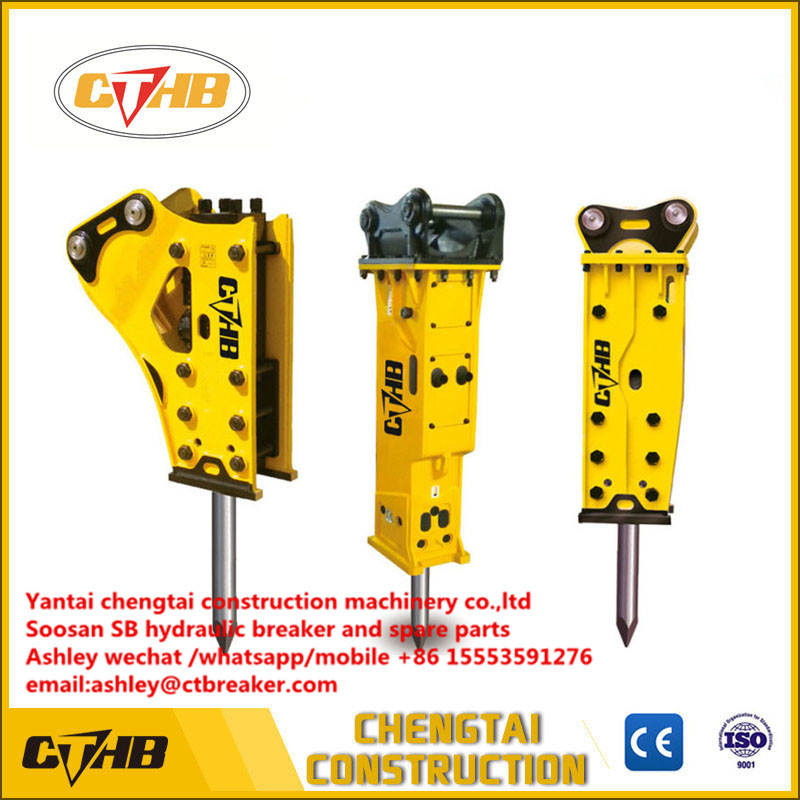 CTHB SB10 40mm Chisel Dia Side Top Open Box Silence Hydraulic Rock Breaker