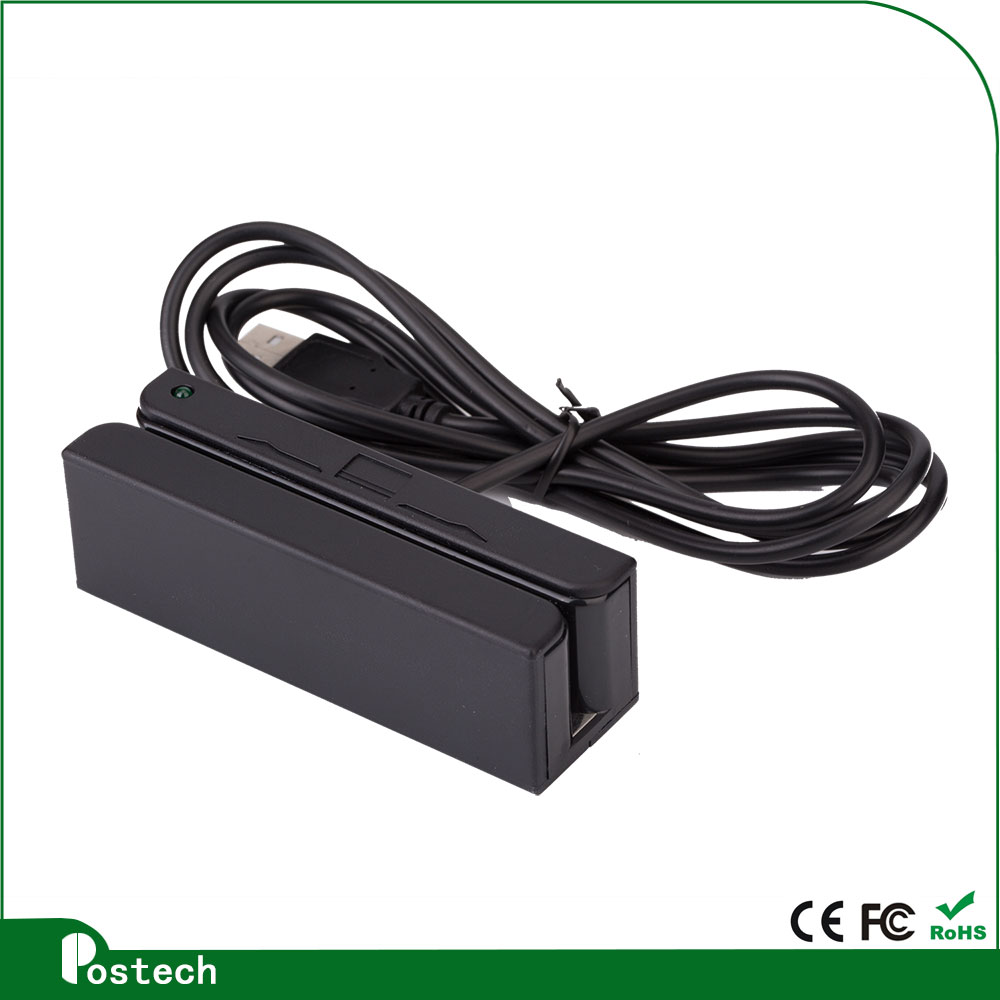 Hi/Lo-Co Magnetic Stripe Card Reader Full 3 Tracks HID MAC OS & Android,  USB Swipe Card Reader