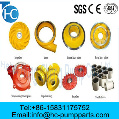 OEM Corrosion Resistance Slurry Pump Parts from China Manufacturer