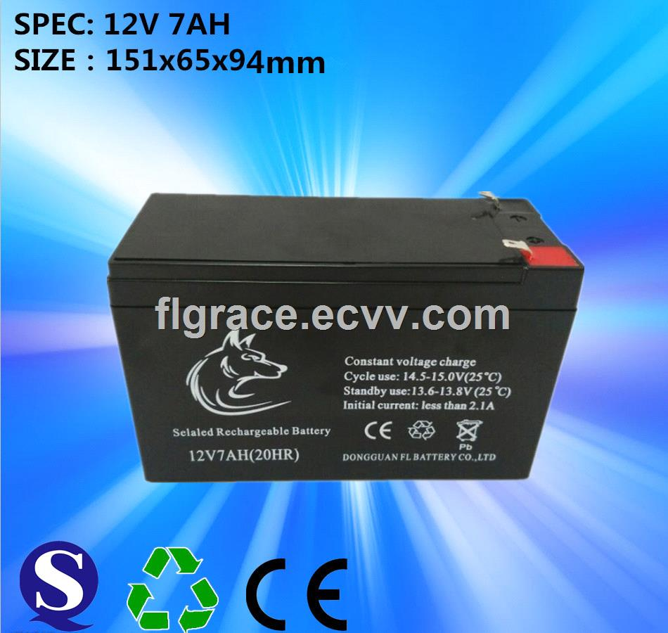 Free Maintenance Type 12v 7ah Sealed Lead Acid Battery Use For 24v Charger Trolley Speaker