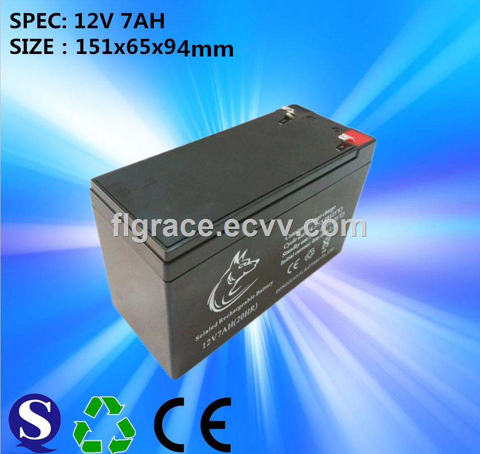Free Maintenance Type 12v 7ah Sealed Lead Acid Battery Use For 24v Charger Trolley Speaker