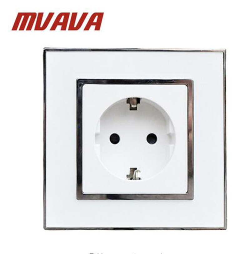 MVAVA Europe Sockets Mirror Crystal Glass EU German Standard Wall ...