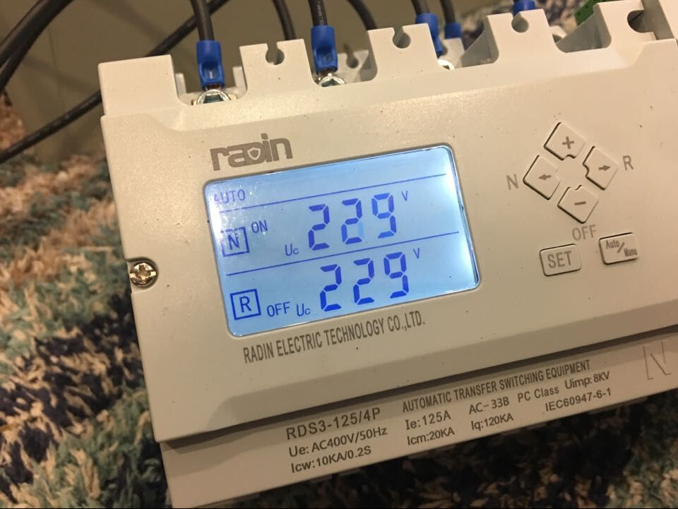 Patented LCD Generator Auto Transfer Switch with Controller