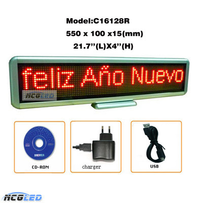 Indoor Advertising Programmable Desktop LED Panel