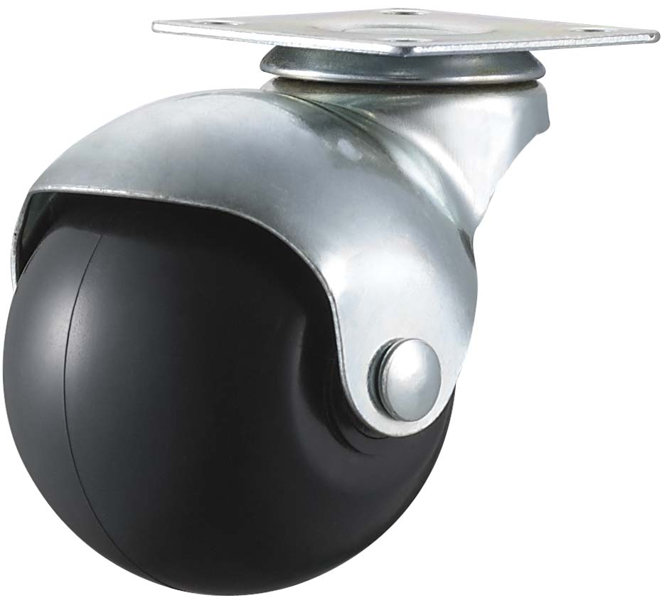 Furniture Caster Wheel Light Duty 2 Inches Rubber Ball Wheels