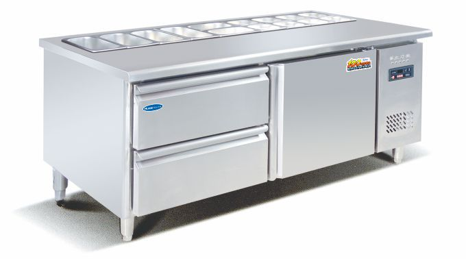 Cost Effective Kitchen Equipment Refrigerated Salad Bar Commercial Used Display Freezer