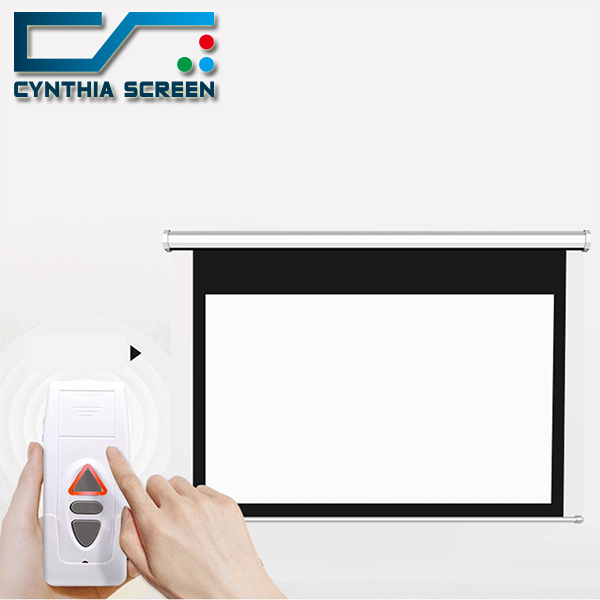 Automatic Motorized Projector Screen with RF/IR Remote