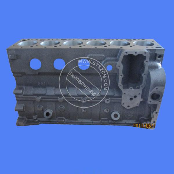 Excavator Spare Parts PC200-8 Engine Parts Cylinder Block 6754-21