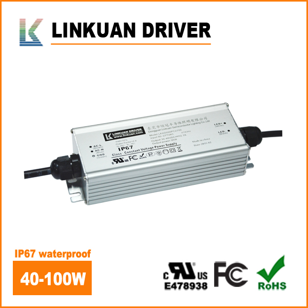 UL listed IP67 waterproof led driver power supply 100w 12v led driver for LED floodlight driver