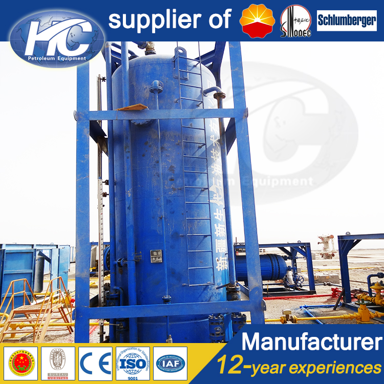 China pressure vessel fabricator well test buffer tank oil storage tank for oil and gas well surface test