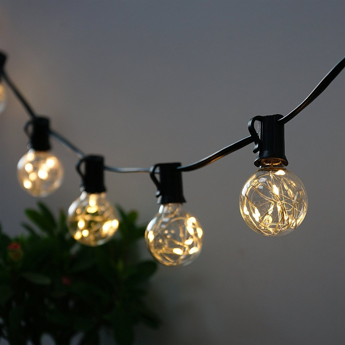 outdoor led christmas star string lights e12 edison bulb waterproof connectable led string light