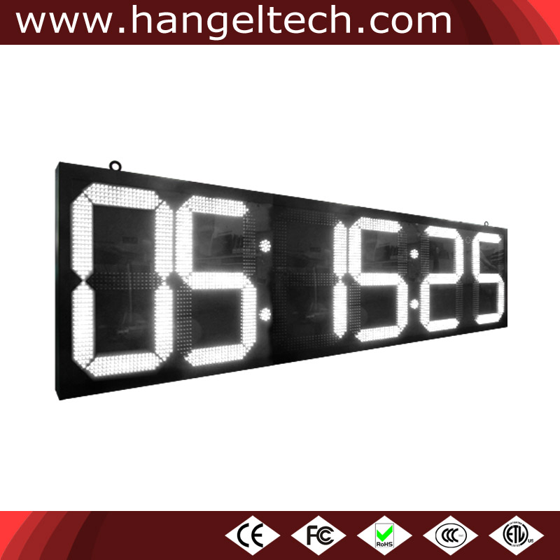 24 Inches Digit Outdoor Large LED Time Clock Temperature Display