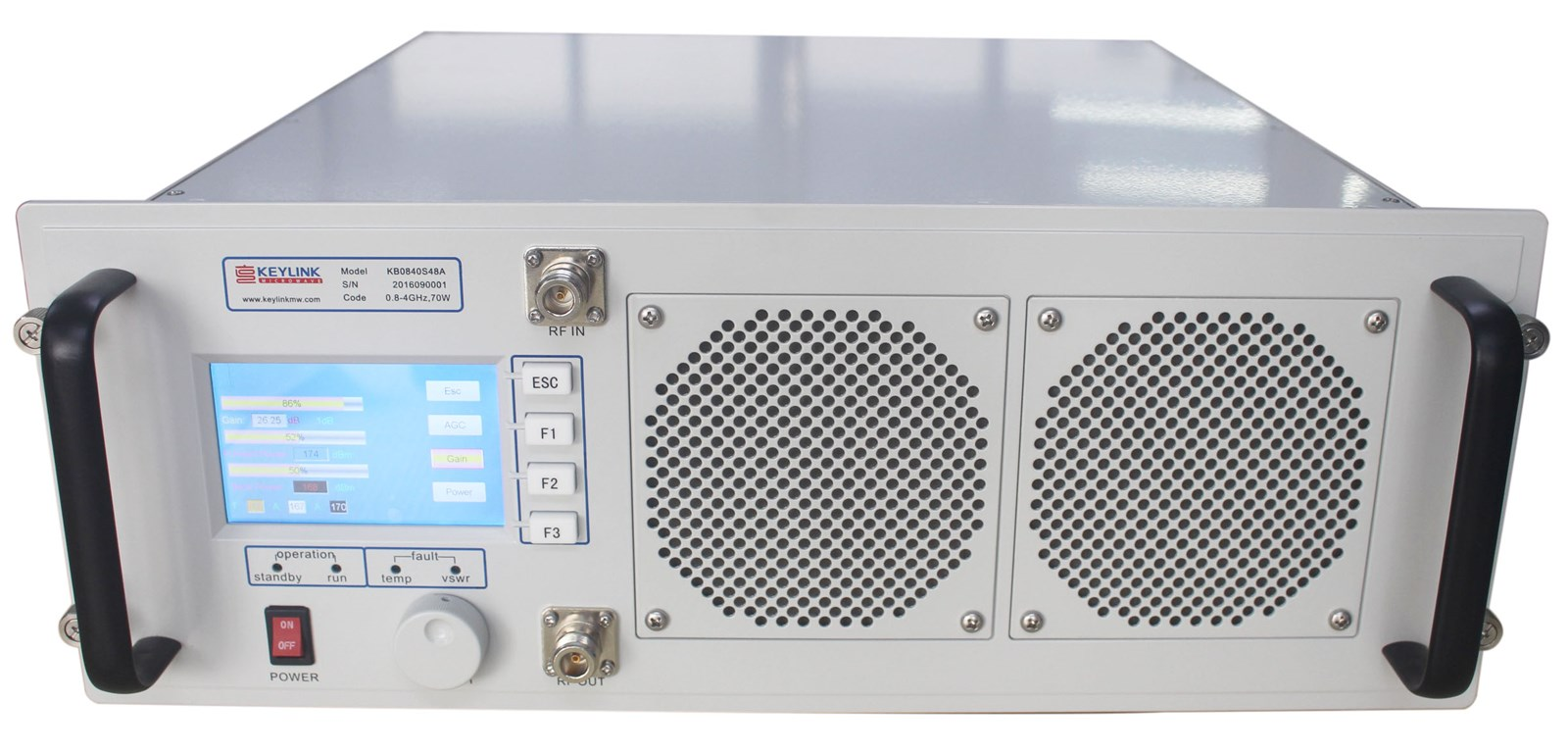 19-Inch Rack Mount-Broadband High Power Amplifier Subsystem