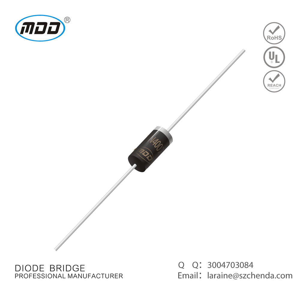 Best Selling Mdd 1000v 1a 1n4007 Rectifier With Do 41 Package Schottky Diodes Pin Smd Switching Do41