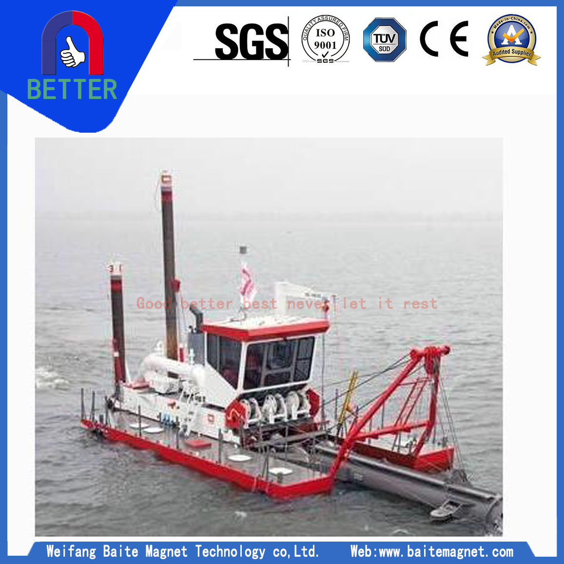 HIgh Efficiency Sand Cutter Suction Dredger from China with Cheap Price