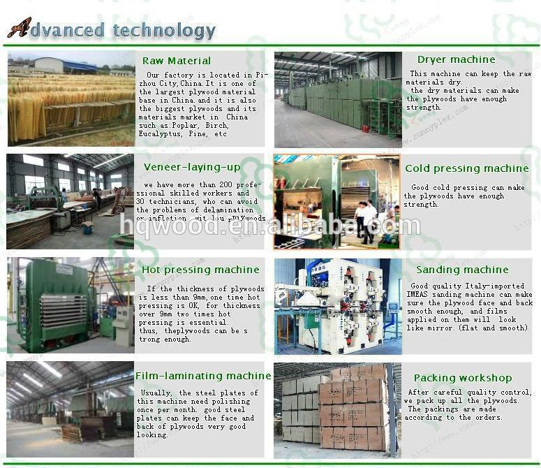 PP green plastic film faced plywood