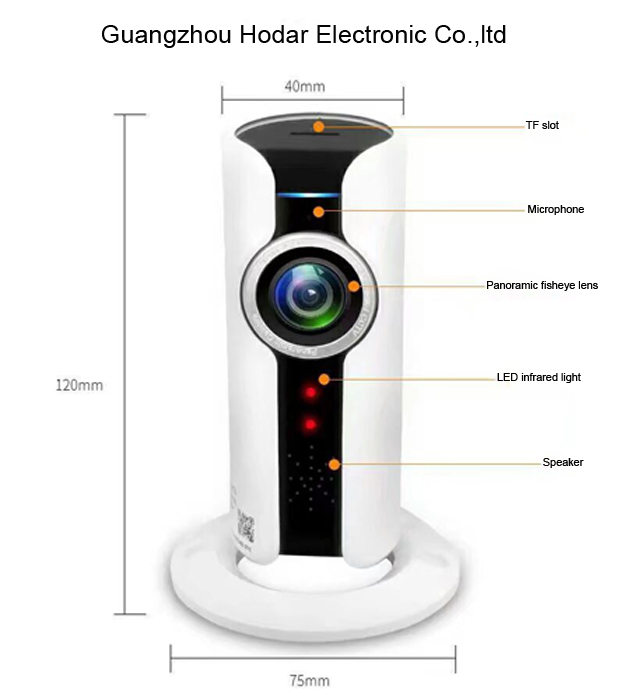 wireless panoramic camera 180 degree fisheye viewing angle wireless IP camera