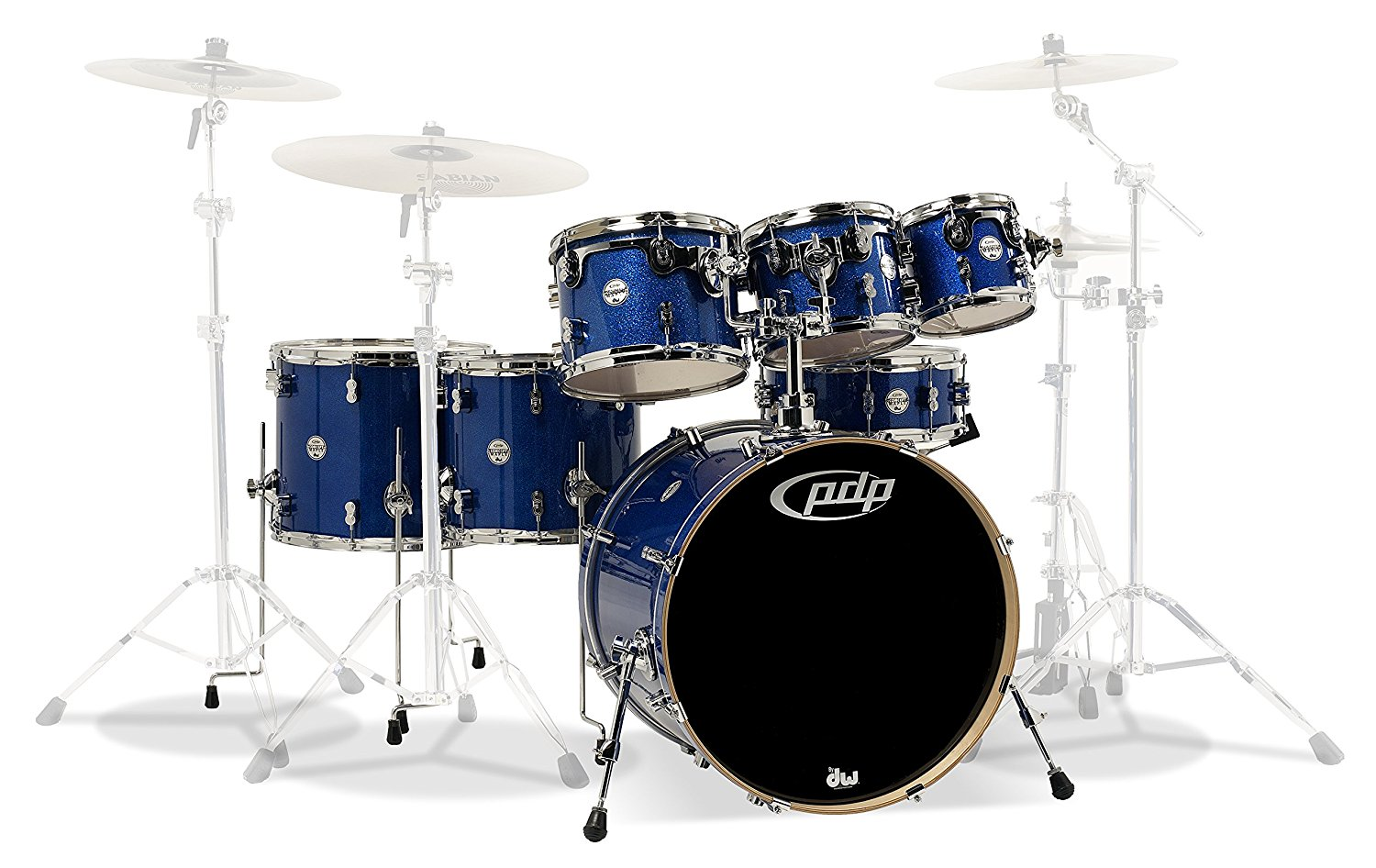 7-Piece Concept Maple Shell Pack with Chrome Hardware Blue