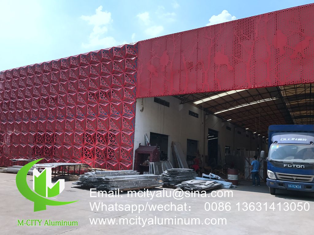 Metal Aluminum Facade Wall Cladding Cut Carved Wall Sheet