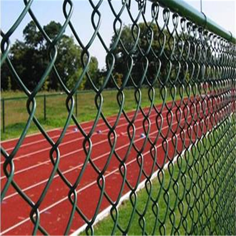 Diamond decorative chain link fence PVC coated Chain link fence