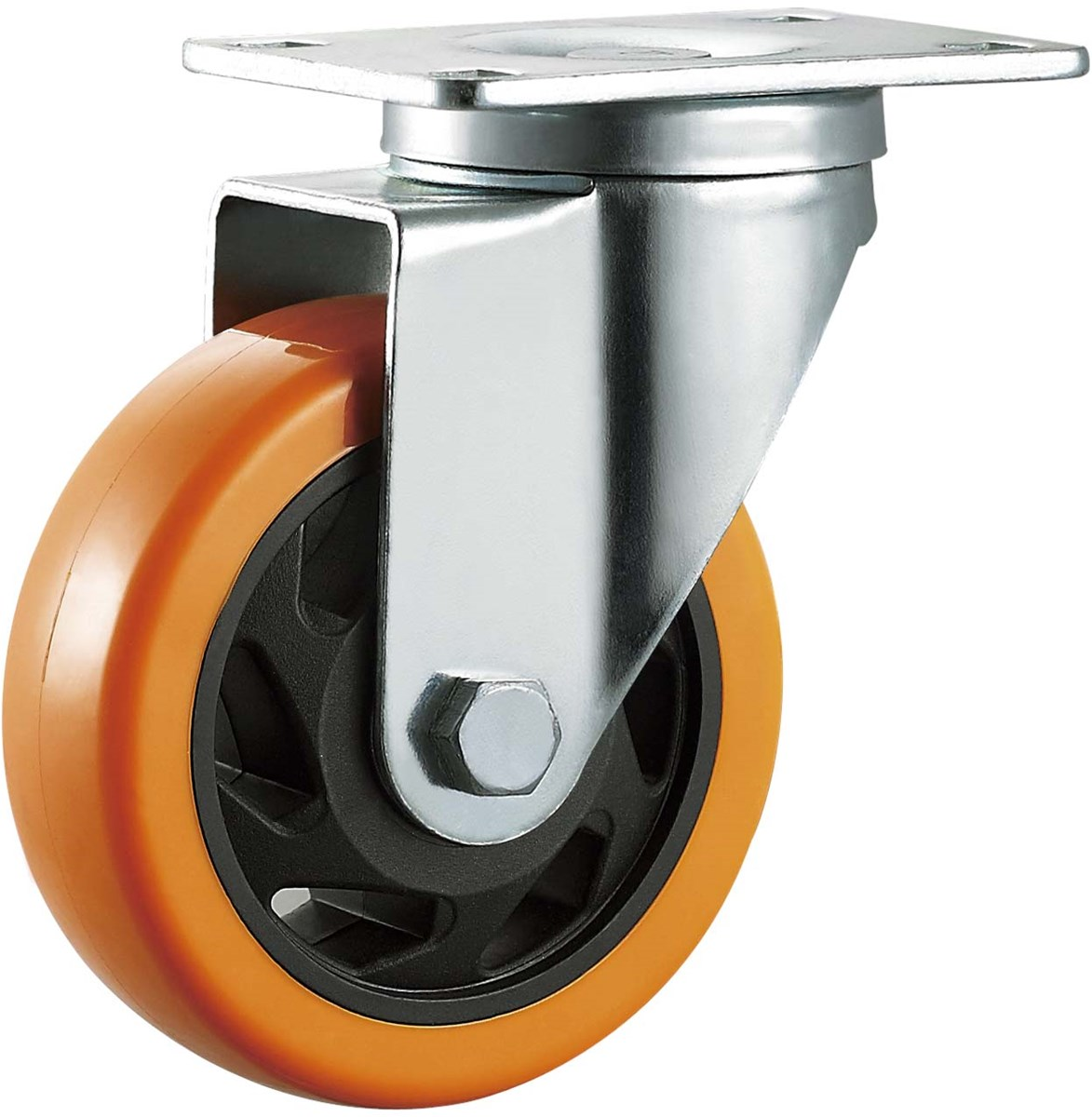 Medium Duty Caster Wheel Hardware Swivel 4 Inches PVC Plastic Ball Bearing Wheels