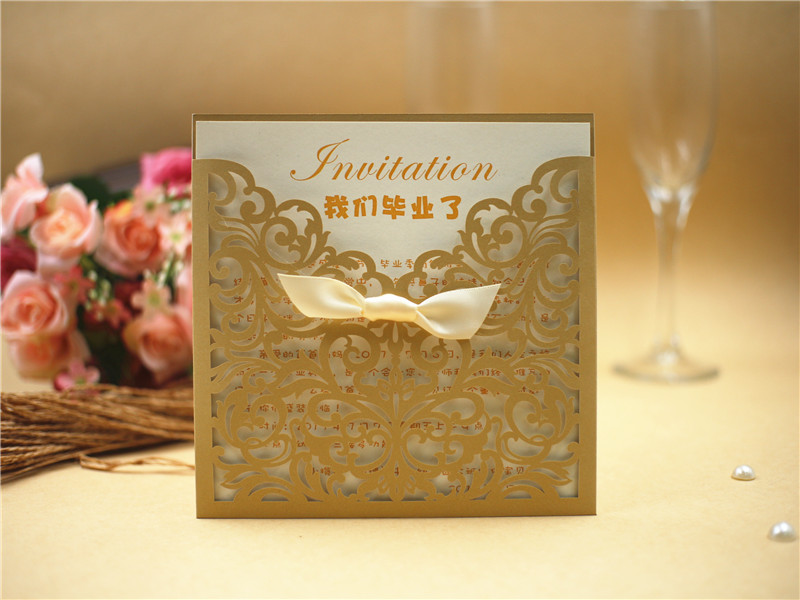 Printed Laser Cut Wedding Invitations Cards for Birthday/Party ...