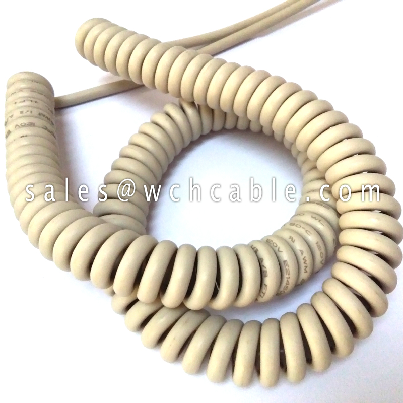 LSZH Compliant Spring Spiral Cable UL20841, UL20820, UL20806