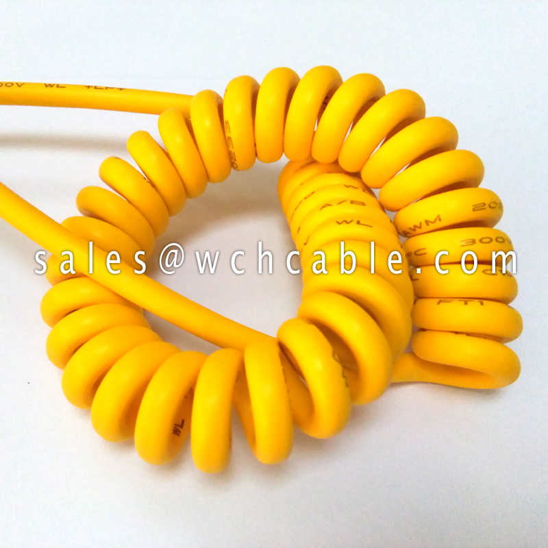 Halogen Free Retractable Spiral Cable UL20057 UL20327 UL20618