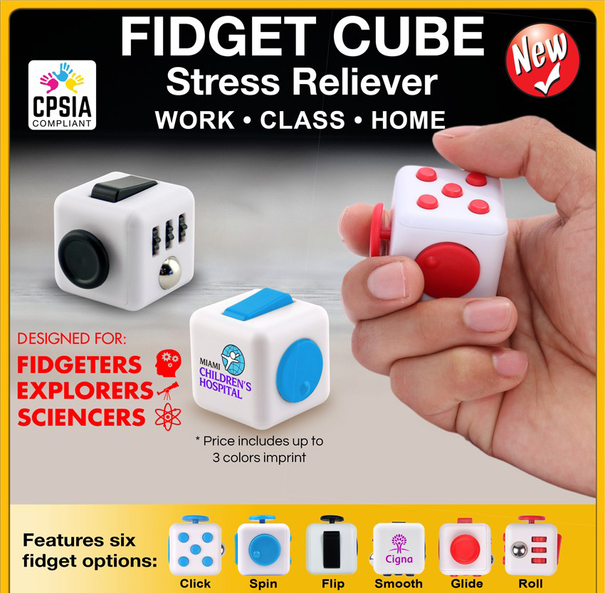 Promotional Custom Fidget Cube Spinner Stress Reliever Toys