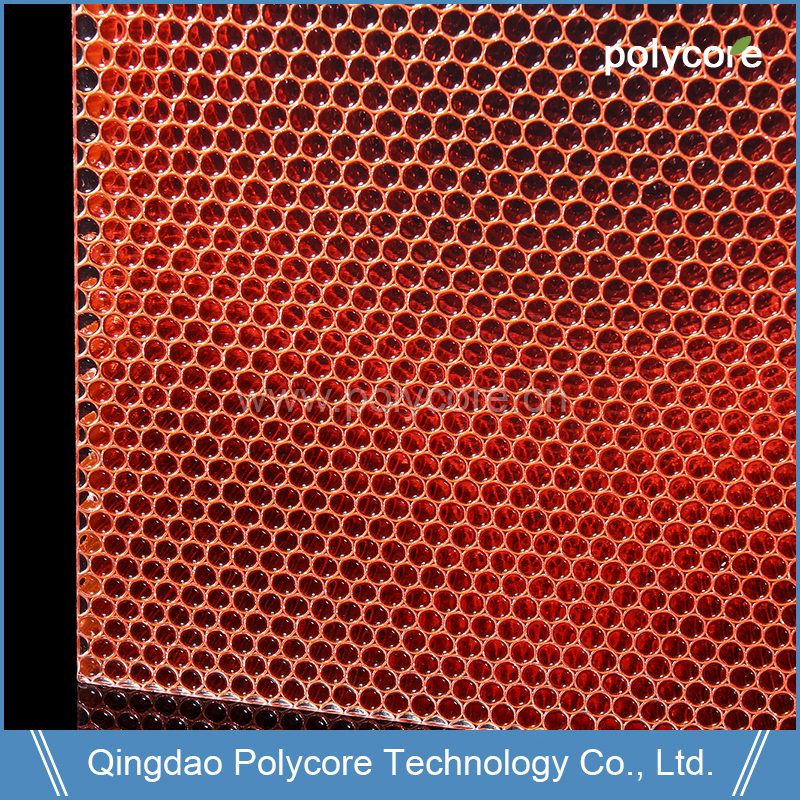 Waterproof Light Weight High Light Transmissing Polycarbonate Honeycomb