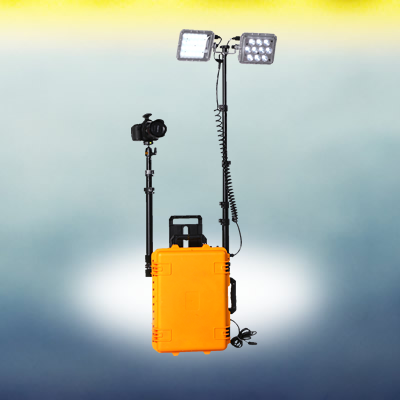 SR-480-70W Floodlight Double Lamp Holder with Warning Lamp AREA LIGhting