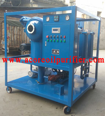 Single Stages High Vacuum Insulating Oil Purifier Machine