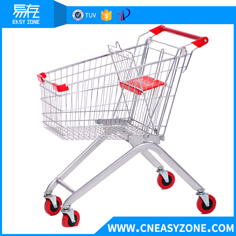 Europeanstyle supermarket shopping cart