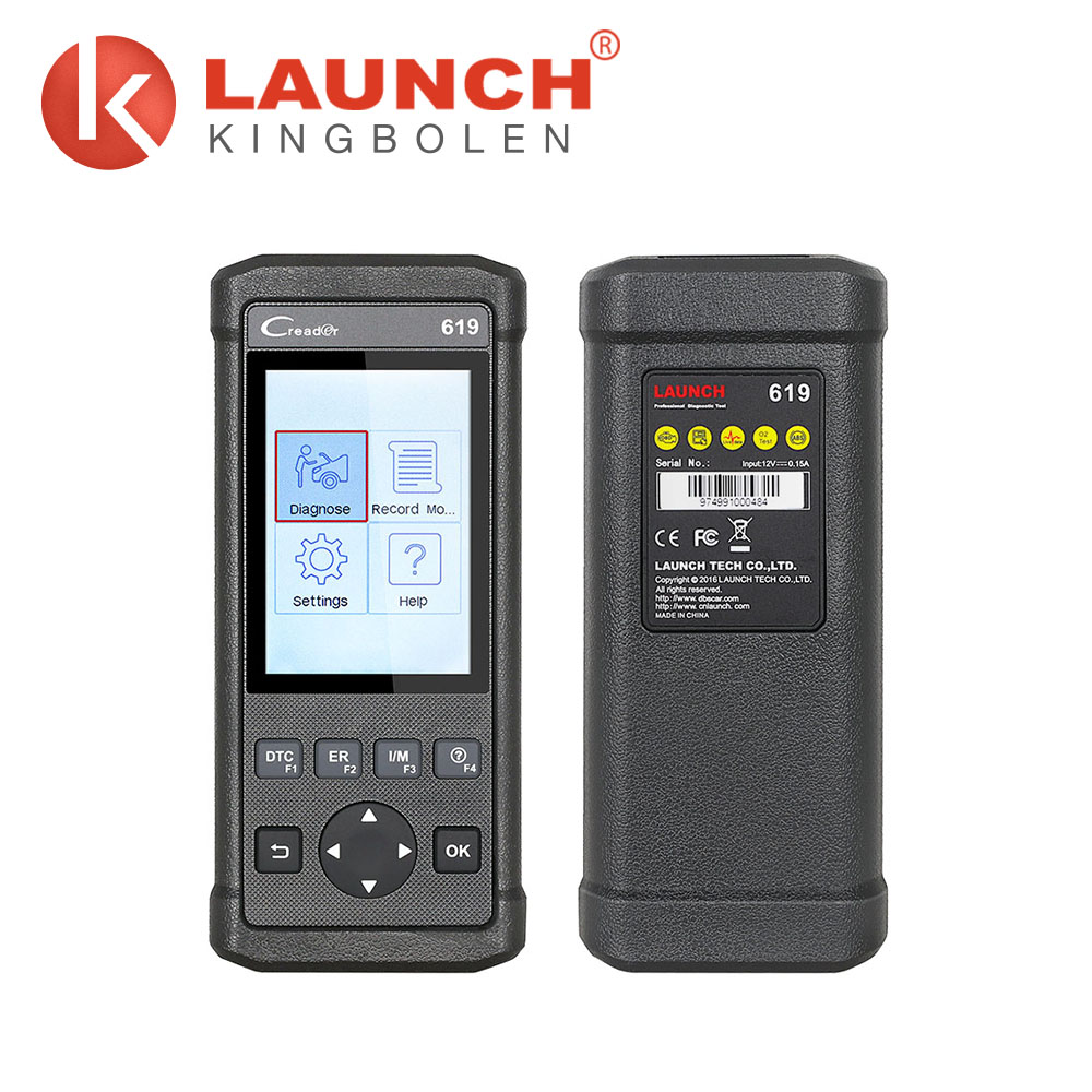 Launch Creader 619 Cr619 Code Reader OBD2/Eobd Function Support Data Record Replay Instead of Autel Al619