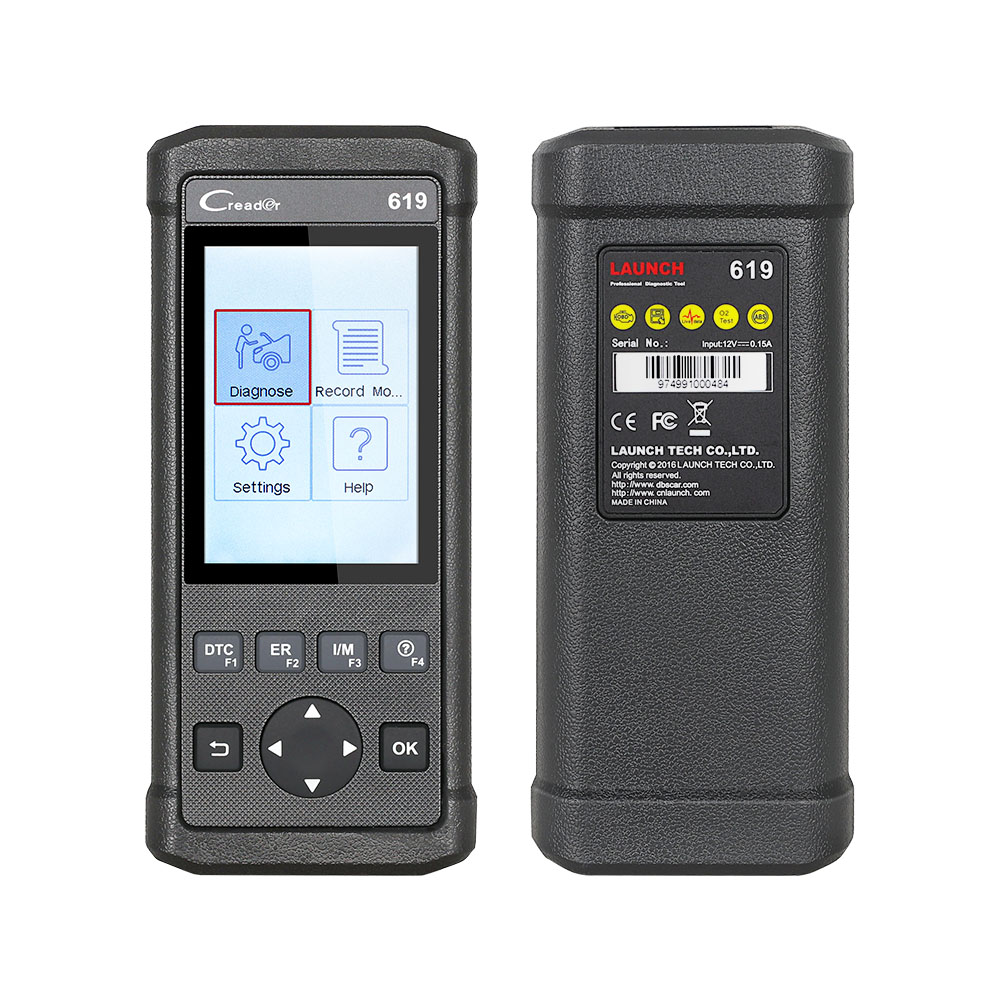 Launch Creader 619 Cr619 Code Reader OBD2Eobd Function Support Data Record Replay Instead of Autel Al619