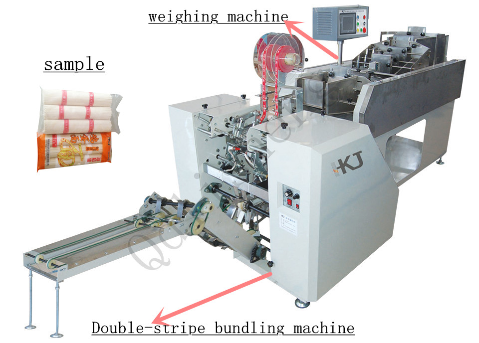 Automatic Spaghetti and Long Pasta double Bundling Packaging Machine