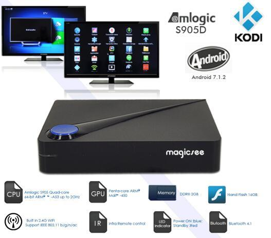 NEW!!! Magicsee C300 Android DVB-T-C-S2 TV Box with Triple Tuner