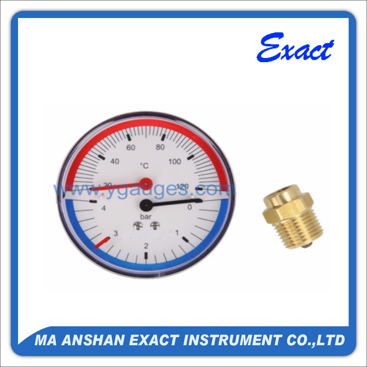 Economy Back Type Thermo-Manometer
