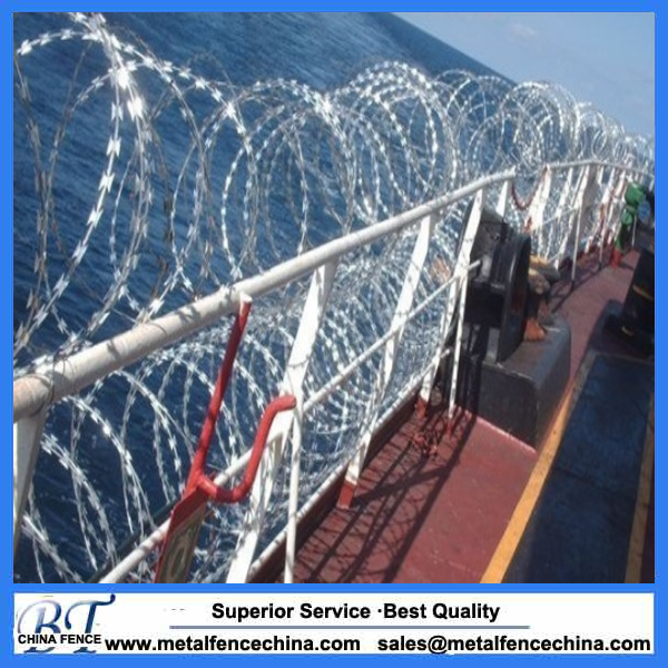 high security airport fence cheap fence wire with barbed wire razor wire