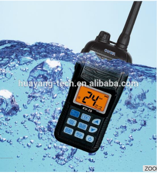 KV-28 VHF Marine Portable Waterproof Transceiver/Float VHF Radio (Floats & Flashes! )