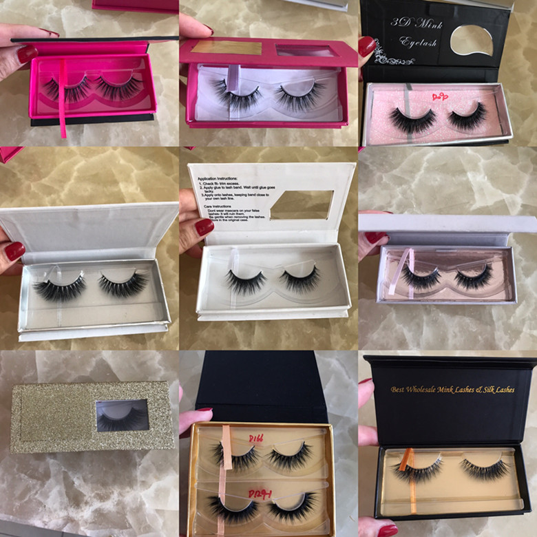 3D22 3D Mink False Eyelashes Manufacture Free Lash Samples with private label mink eyelashes