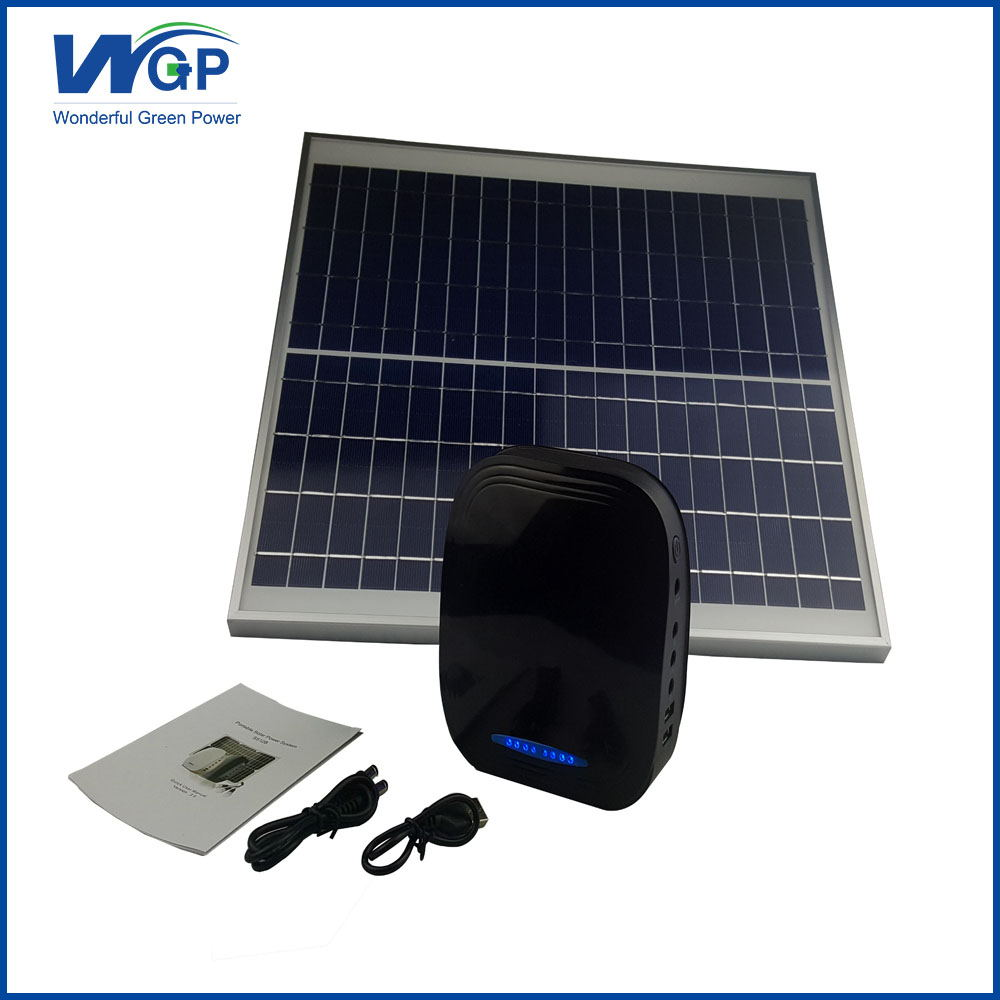 High Capacity 12V Dual USB Solar Panel Battery Charger for Router