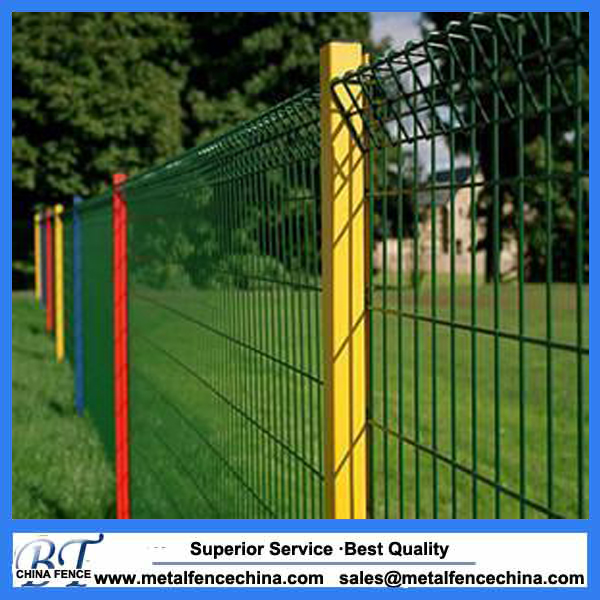 powder coated galvanized garden fence panels roll top welded wire mesh fence